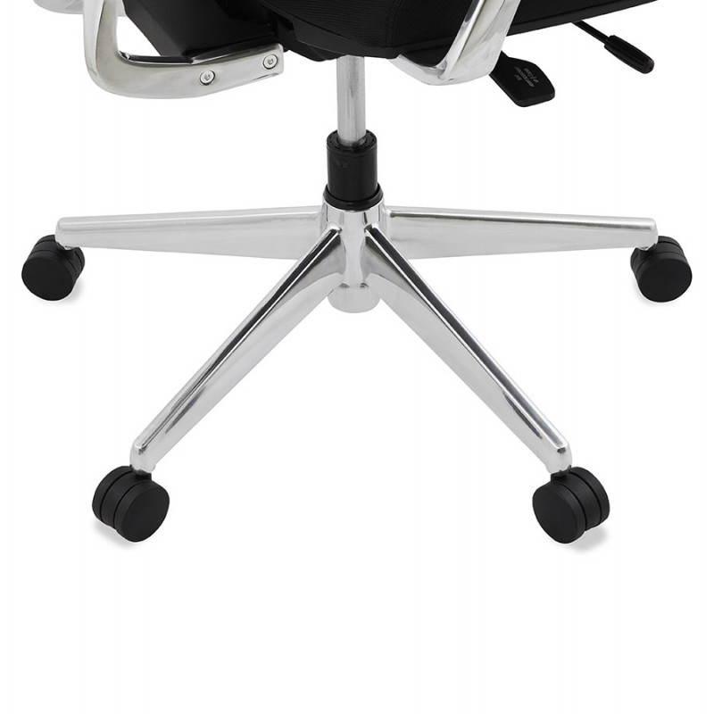 Fauteuil de bureau ergonomique LEO en tissu (noir ) - image 25997
