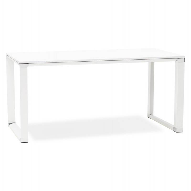 Bureau droit design BOUNY en bois (blanc) - image 25998