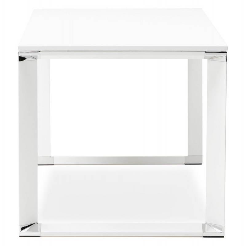 Bureau droit design BOUNY en bois (blanc) - image 26000