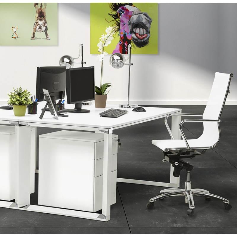 Bureau droit design BOUNY en bois (blanc) - image 26010