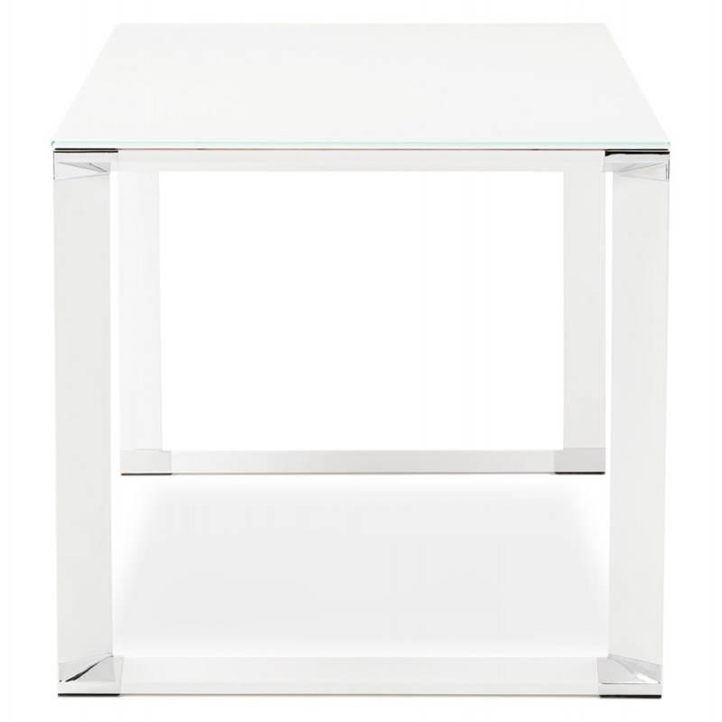 Bureau droit design BOIN en verre trempé (blanc) - image 26013