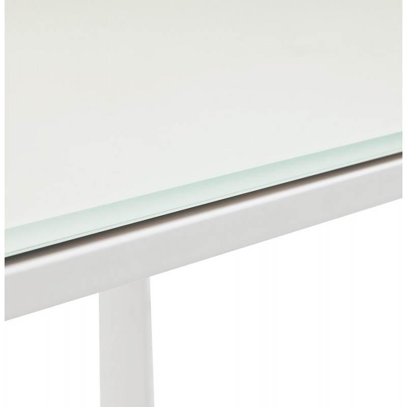 Bureau droit design BOIN en verre trempé (blanc) - image 26018