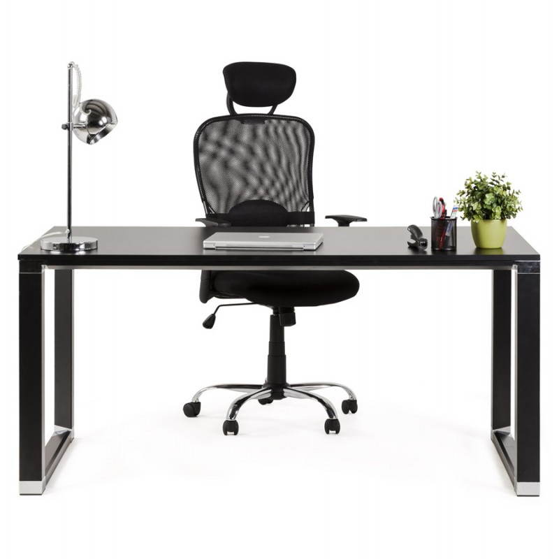 Bureau droit design BOUNY en bois (noir) - image 26030