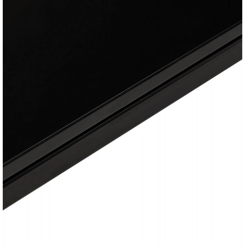 Bureau droit design BOIN en verre trempé (noir) - image 26041