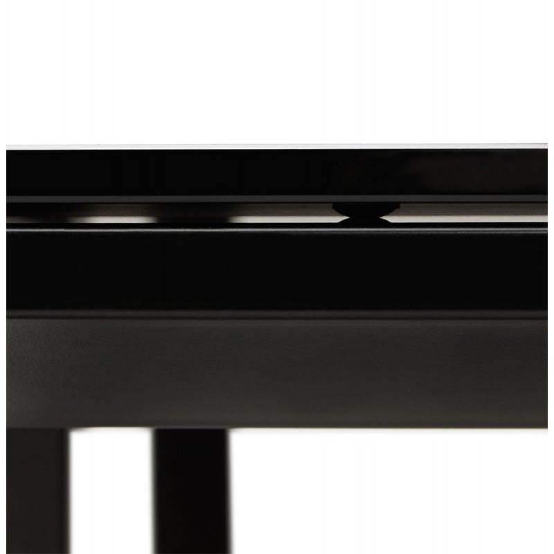 Bureau droit design BOIN en verre trempé (noir) - image 26043