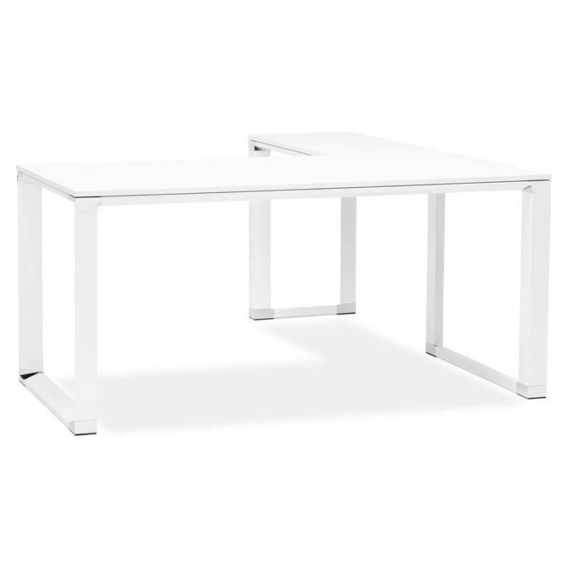 Bureau d'angle design CORPORATE en bois (blanc) - image 26049