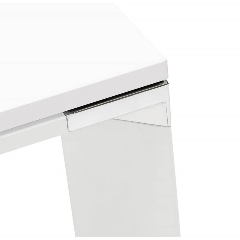 Bureau d'angle design CORPORATE en bois (blanc) - image 26077