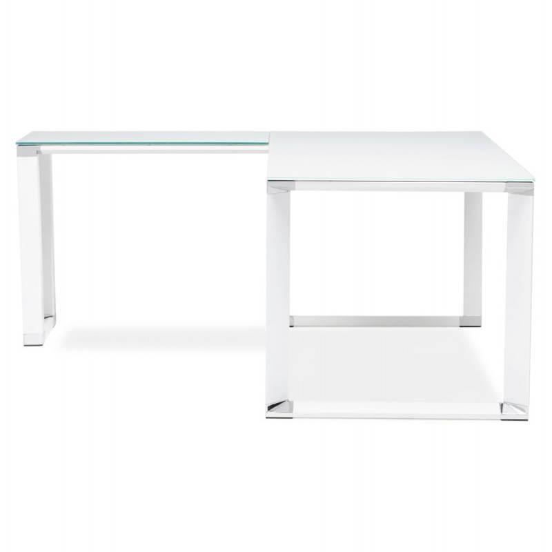Bureau d'angle design MASTER en verre trempé (blanc) - image 26091