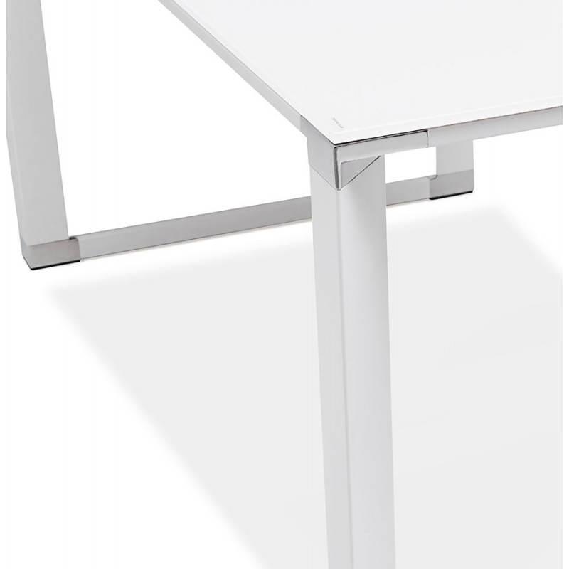 Bureau d'angle design MASTER en verre trempé (blanc) - image 26110