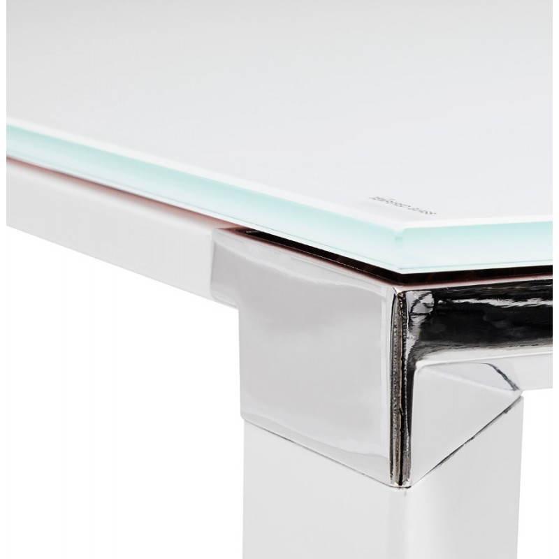 Bureau d'angle design MASTER en verre trempé (blanc) - image 26112