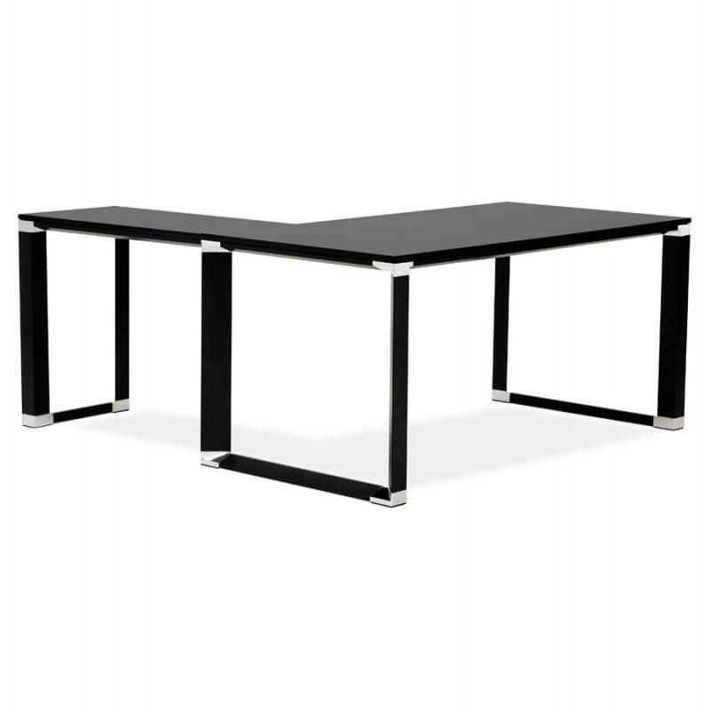 Bureau d'angle design CORPORATE en bois (noir) - image 26234