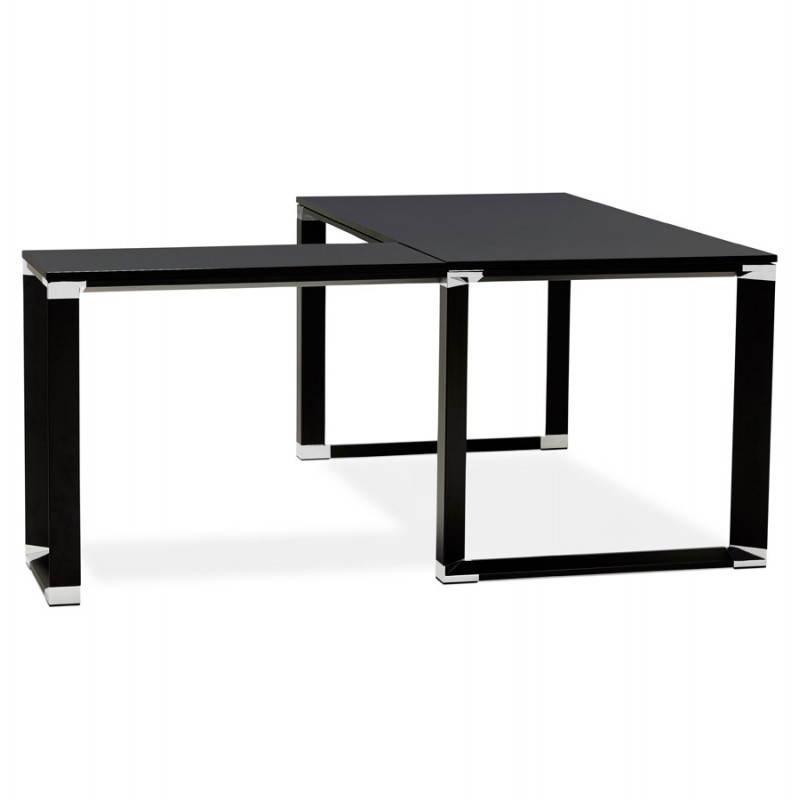 Bureau d'angle design CORPORATE en bois (noir) - image 26236