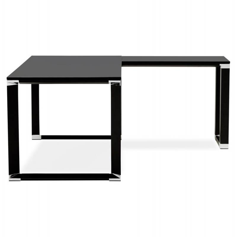 Bureau d'angle design CORPORATE en bois (noir) - image 26241
