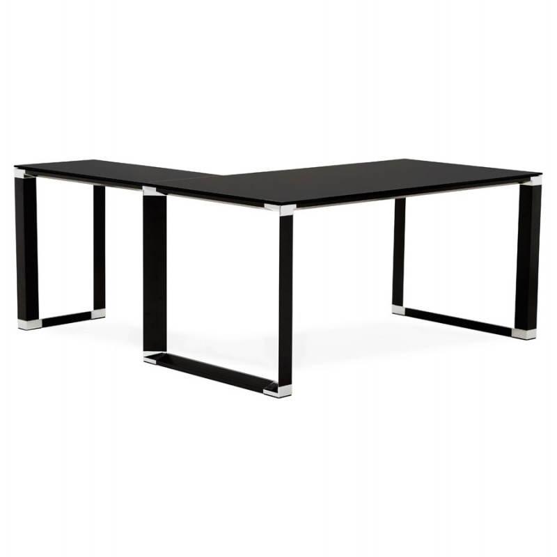 Bureau d'angle design MASTER en verre trempé (noir) - image 26251