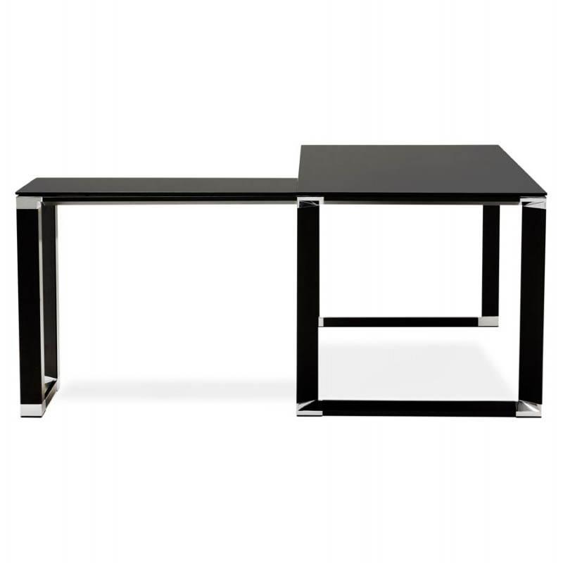 bureau d 39 angle design master en verre tremp noir. Black Bedroom Furniture Sets. Home Design Ideas