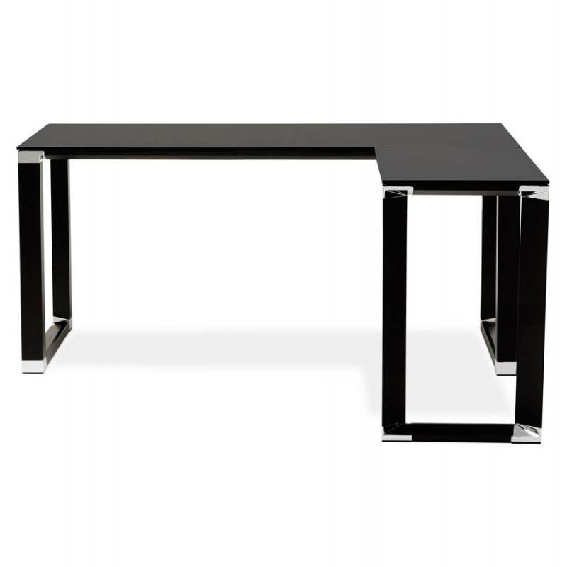 Bureau d'angle design MASTER en verre trempé (noir) - image 26255