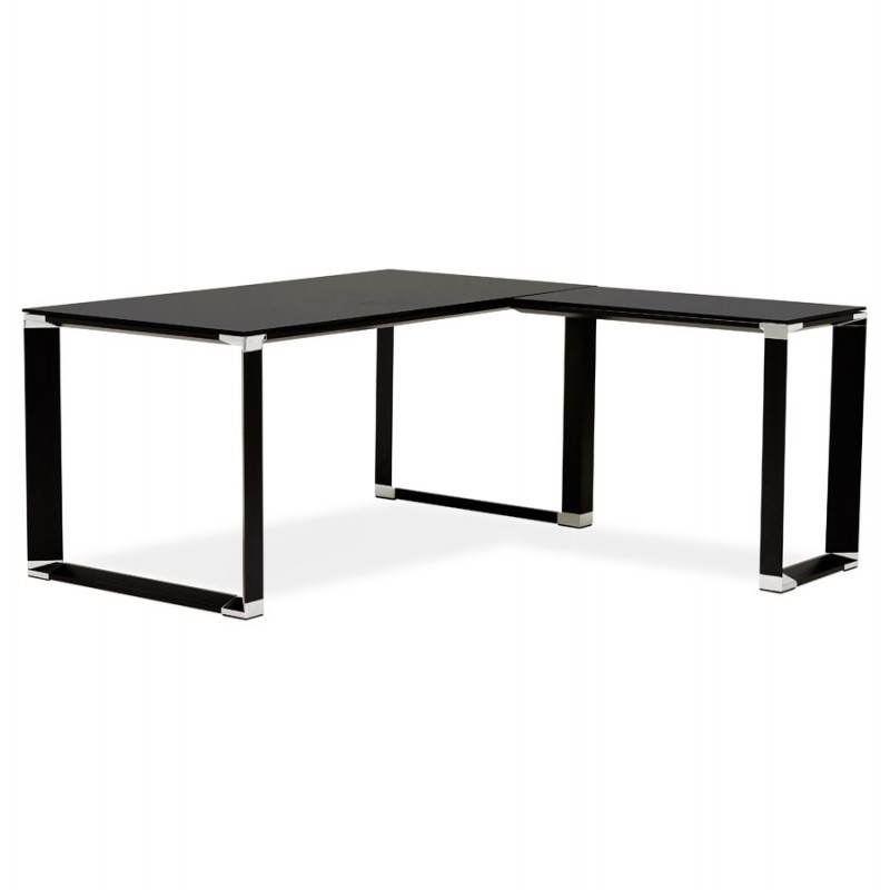 Bureau d'angle design MASTER en verre trempé (noir) - image 26257