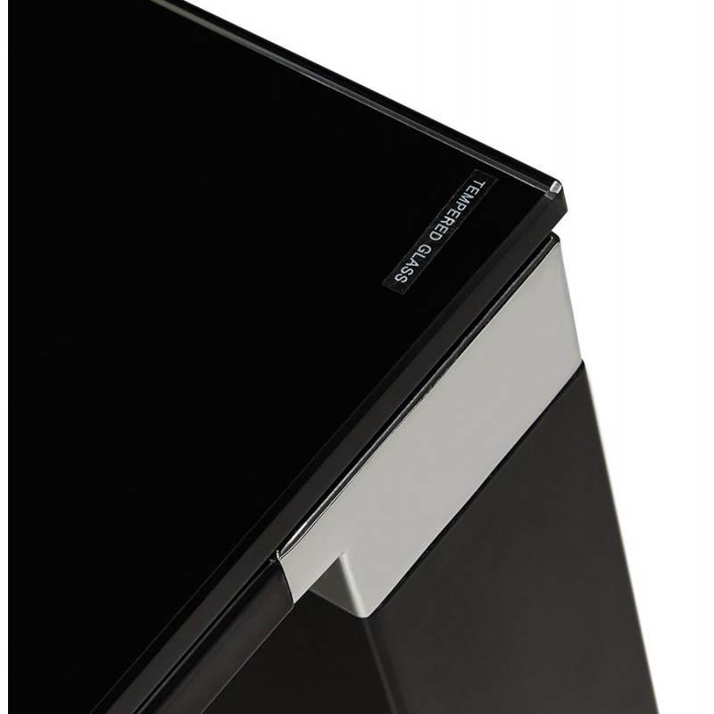 Bureau d'angle design MASTER en verre trempé (noir) - image 26261