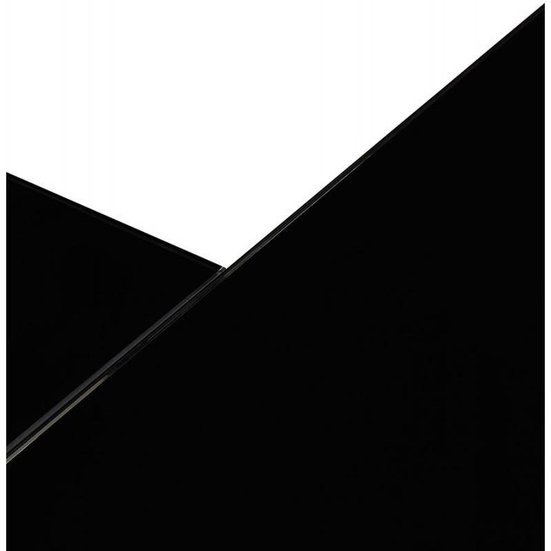Bureau d'angle design MASTER en verre trempé (noir) - image 26262
