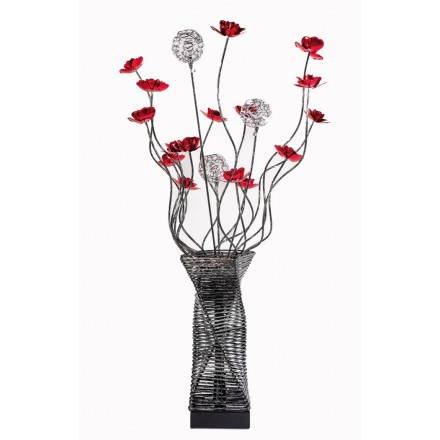 Piso flexible lámpara de KATE de metal (negra, roja)