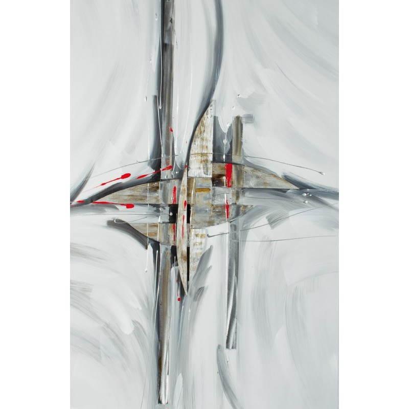 Tableau peinture contemporaine de style abstrait VOGUE
