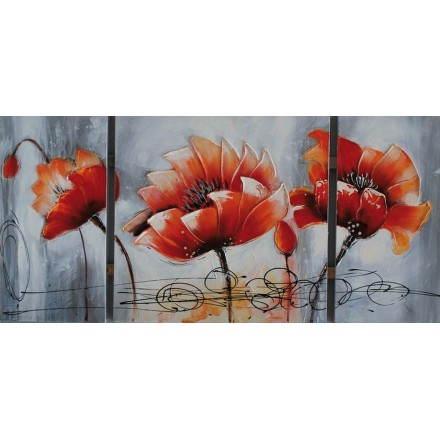 Cuadro pintura floral LOTUS