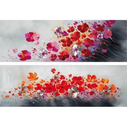 2 tavoli pittura floreale flora