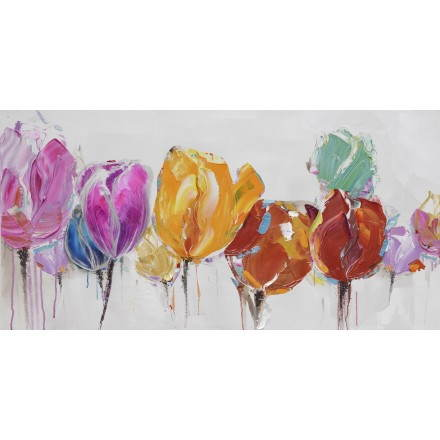 Table painting floral Tulip