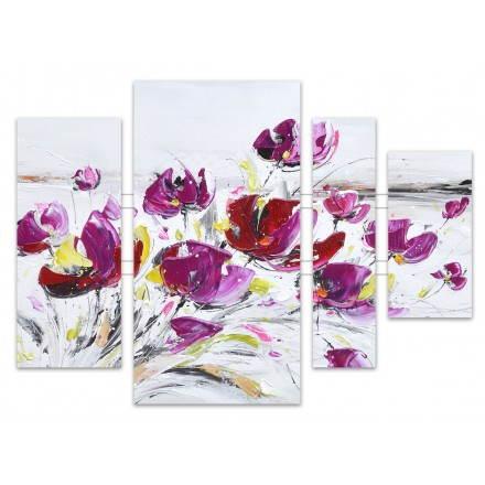 Quadri Pittura floreale viola