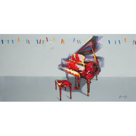 Tabelle Malerei figurative zeitgenössische Klavier