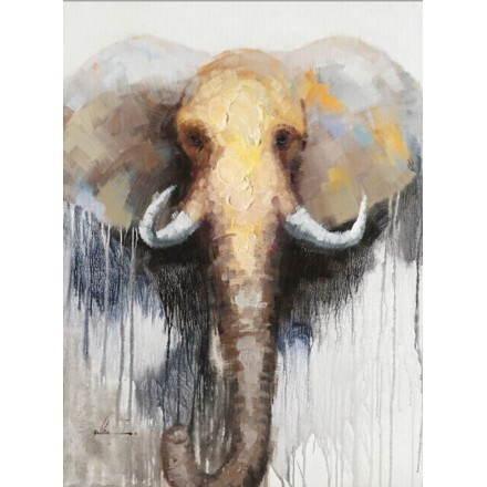 Cuadro pintura figurativa contemporánea elefante