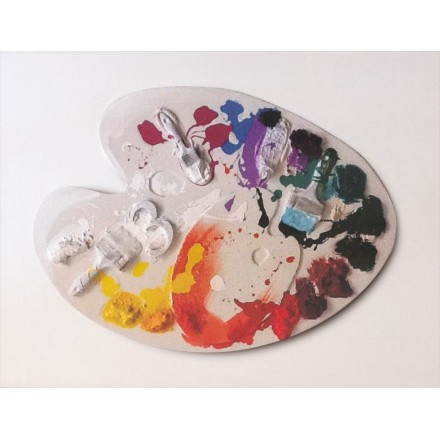 Tabelle figurative zeitgenössische Aquarell Malerei