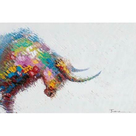 Tableau peinture figurative contemporaine TAUREAU