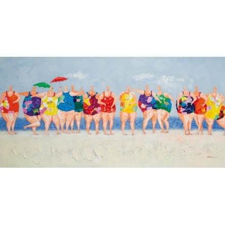 Tabella di pittura figurativi contemporanei bagnanti