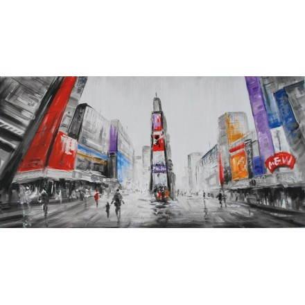 Tableau peinture figurative contemporaine CITY