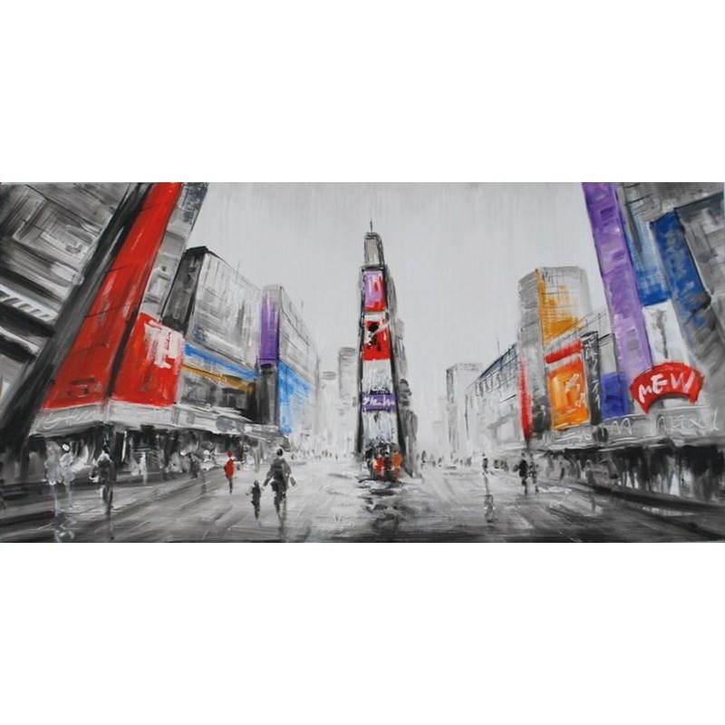 Tabelle Malerei figurative zeitgenössische Stadt