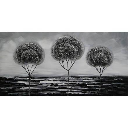 Tabella pittura figurativa contemporanea alberi