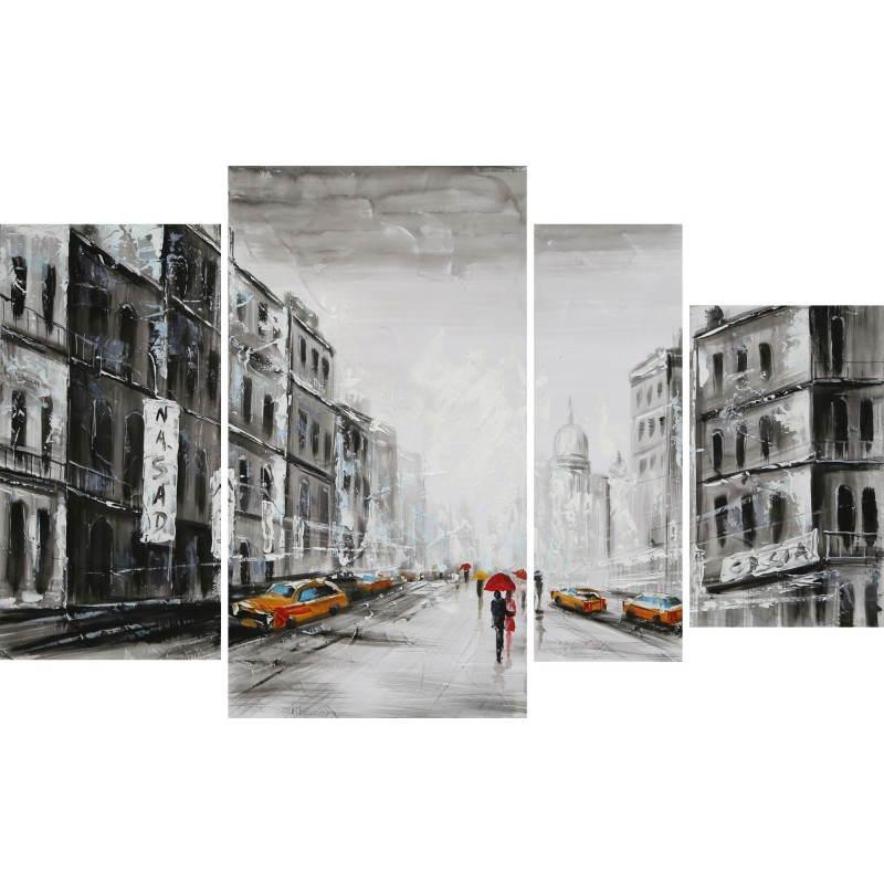 Tableau peinture figurative contemporaine QUARTIER  - image 26508