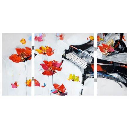 Tabella di pittura figurativa contemporanea floreale