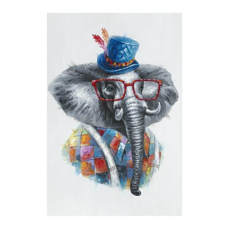 peinture figurative contemporaine ELEPHANT COLORE