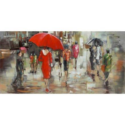 Tabelle Malerei unterstützen Metall Regen