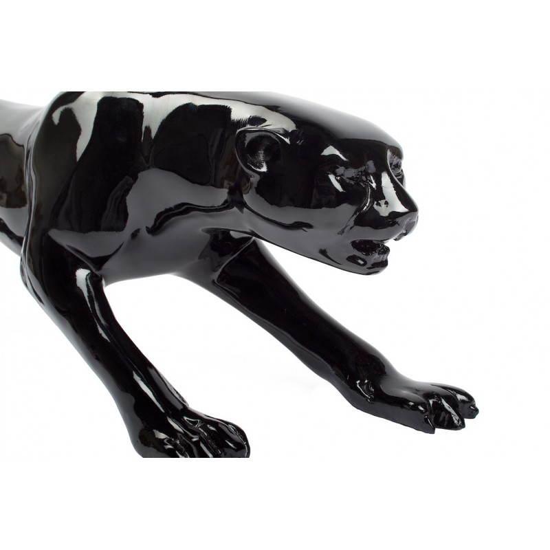 Statue sculpture décorative design PANTHERE en résine H19 (noir) - image 26742