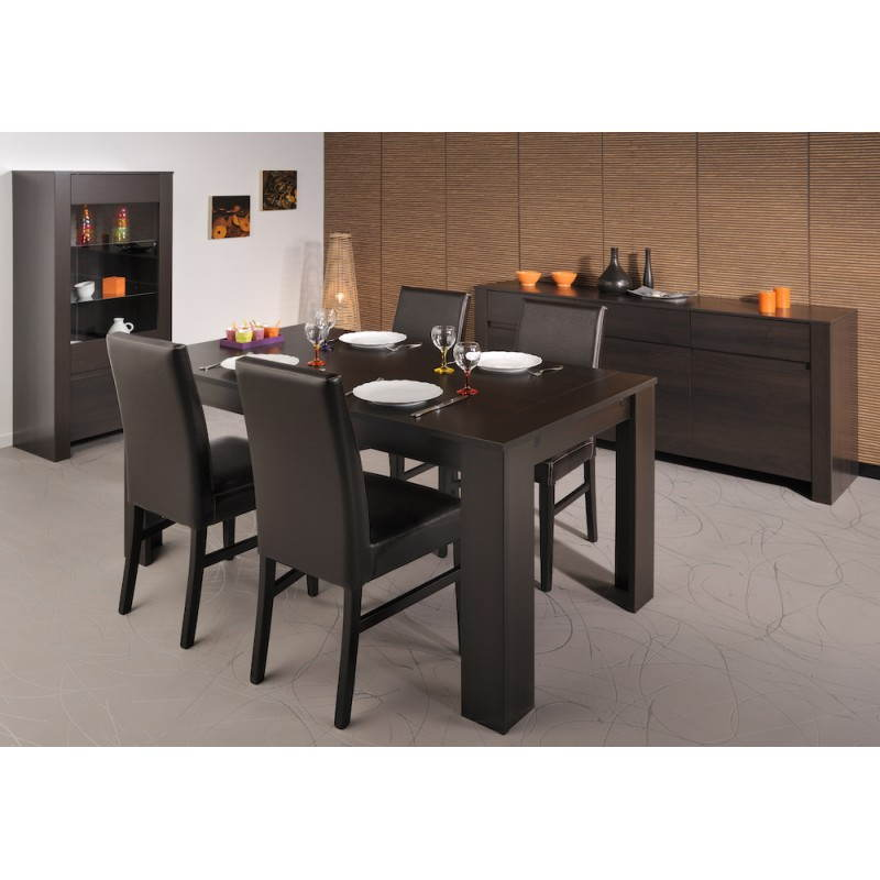 Table de salle manger design europe weng for Meuble salle a manger wenge