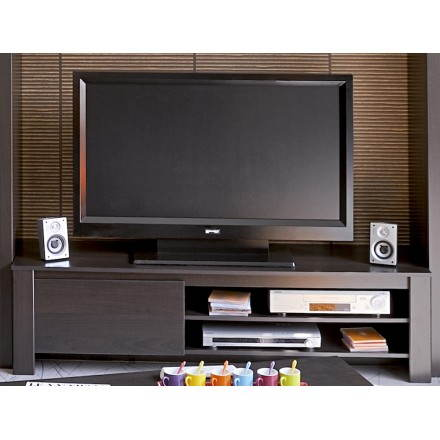 Meuble bas TV design EUROPE (wengé)