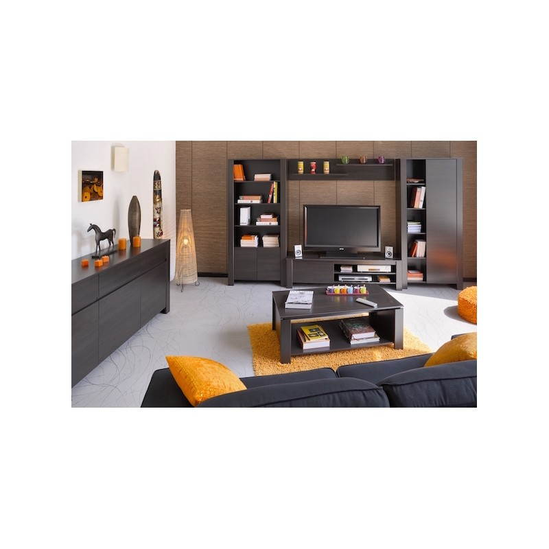 Meuble tv hifi vid o design europe weng for Meuble salle a manger wenge