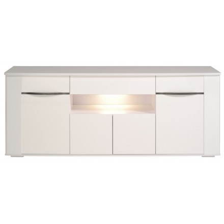 Buffet design gemstone 4 doors PICPUS (megeve/gloss white)