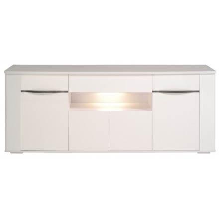 A buffet design gemstone 4 porte PICPUS (megeve/lucido bianco)