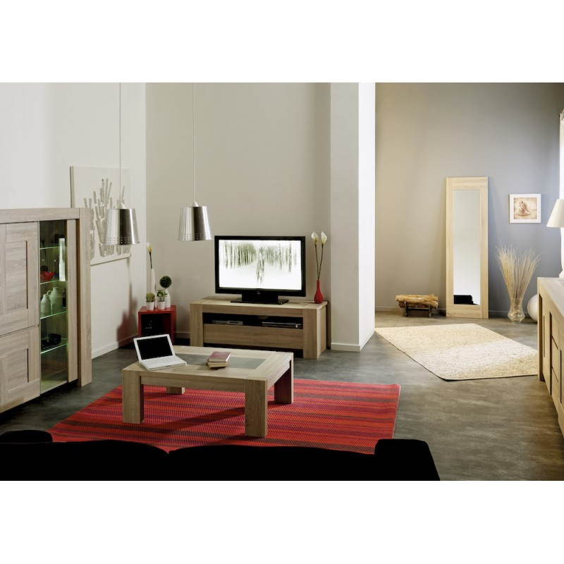 meuble bas tv design auteuil ch ne brut. Black Bedroom Furniture Sets. Home Design Ideas