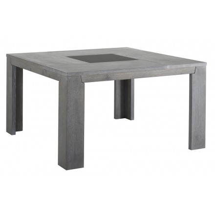 Square design table BERCY decor (grey) oak