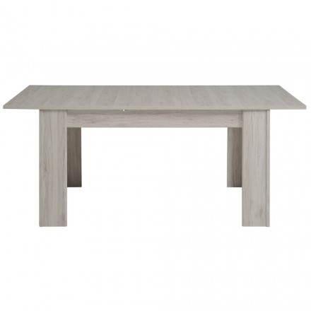 Table à manger extensible design CHAILLOT décor chêne (gris clair)